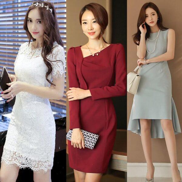Váy đầm Hàn Quốc hợp xu hướng thời trang công sở 2022